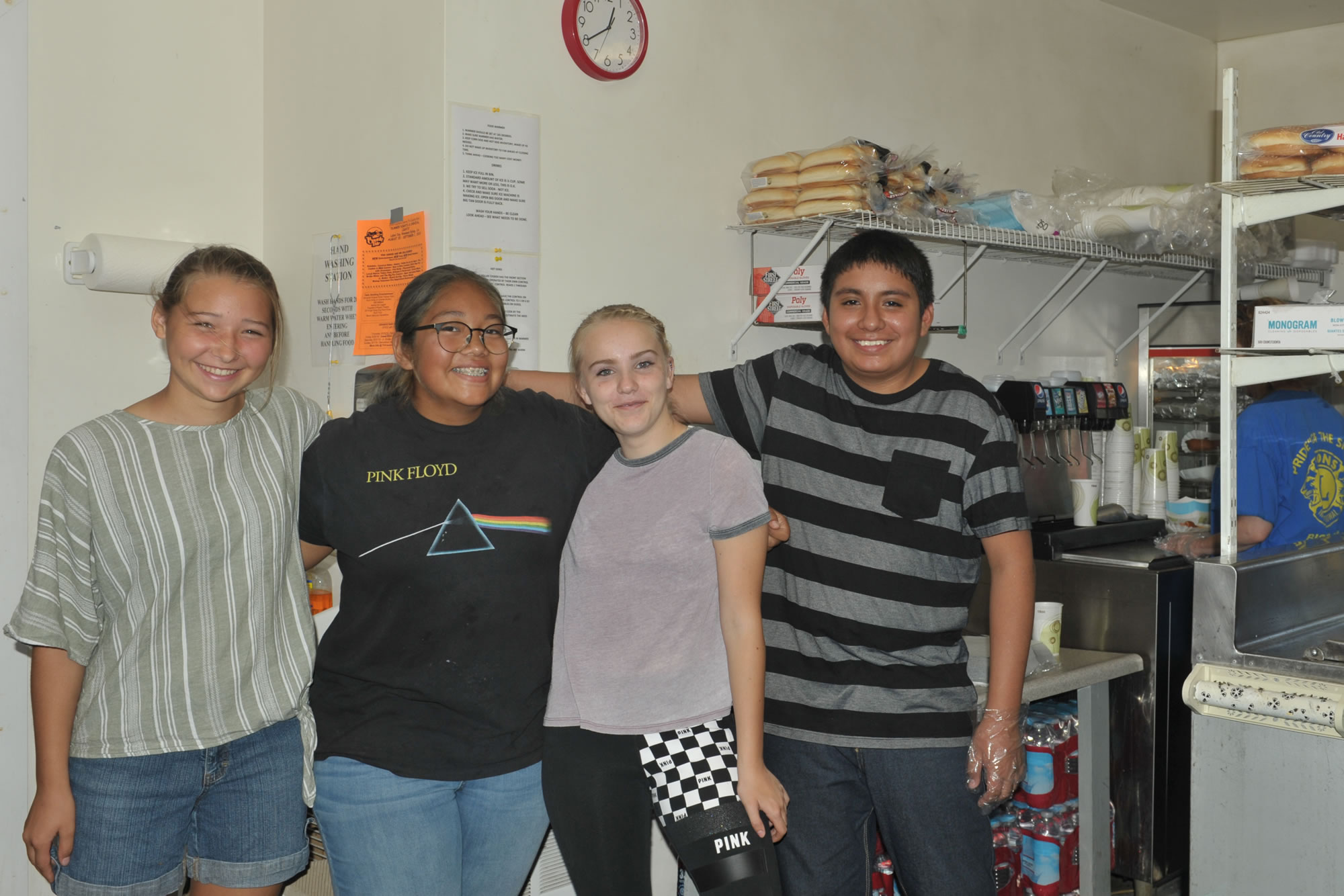 Youth Volunteers in the Concessions Stand