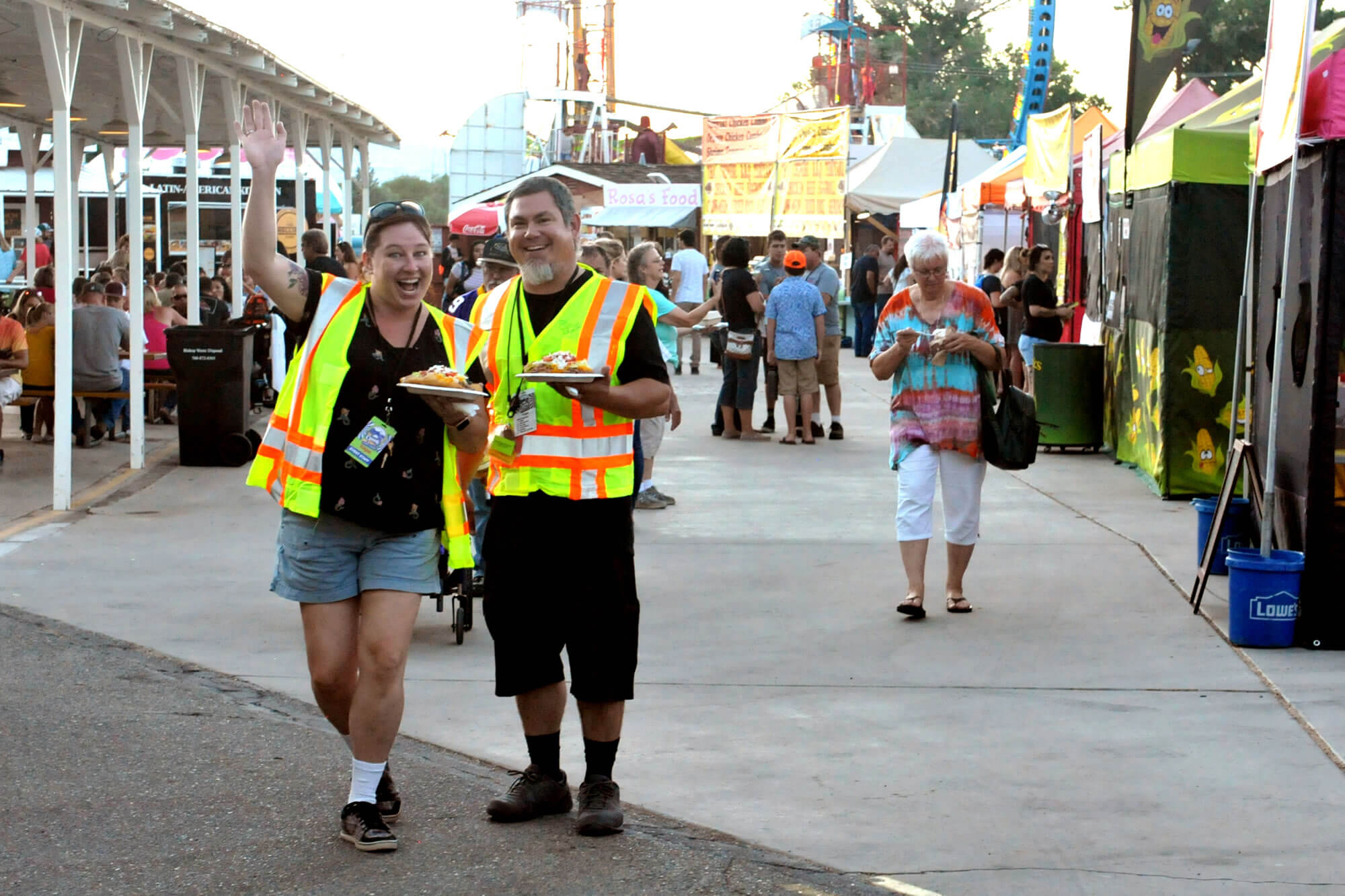 Security Volunteers at the Tri-County Fair in Bishop